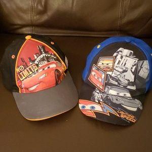2 adjustable CARS (Lightning McQueen) ball caps
